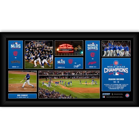 Chicago Cubs 2016 World Series Road to the Championship Champions Framed 10x20 - image 1 of 1