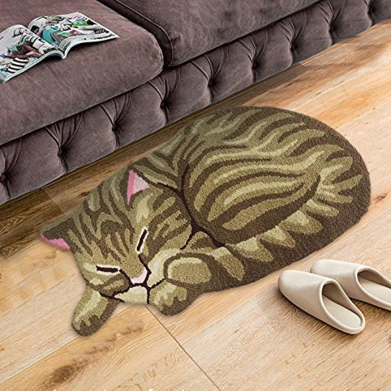 FADFAY Handmade Cute Cat Floor Mat Doormat Kitchen Rug Funny Kids Rug 33''18'' by