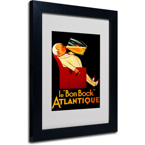 Trademark Fine Art 'Bon Bock' Framed Matted Art