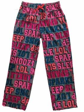 Girls Gray Pink Blue Sleep Pant  Sparkle Snooze Sleep Lol Pajama Bottoms