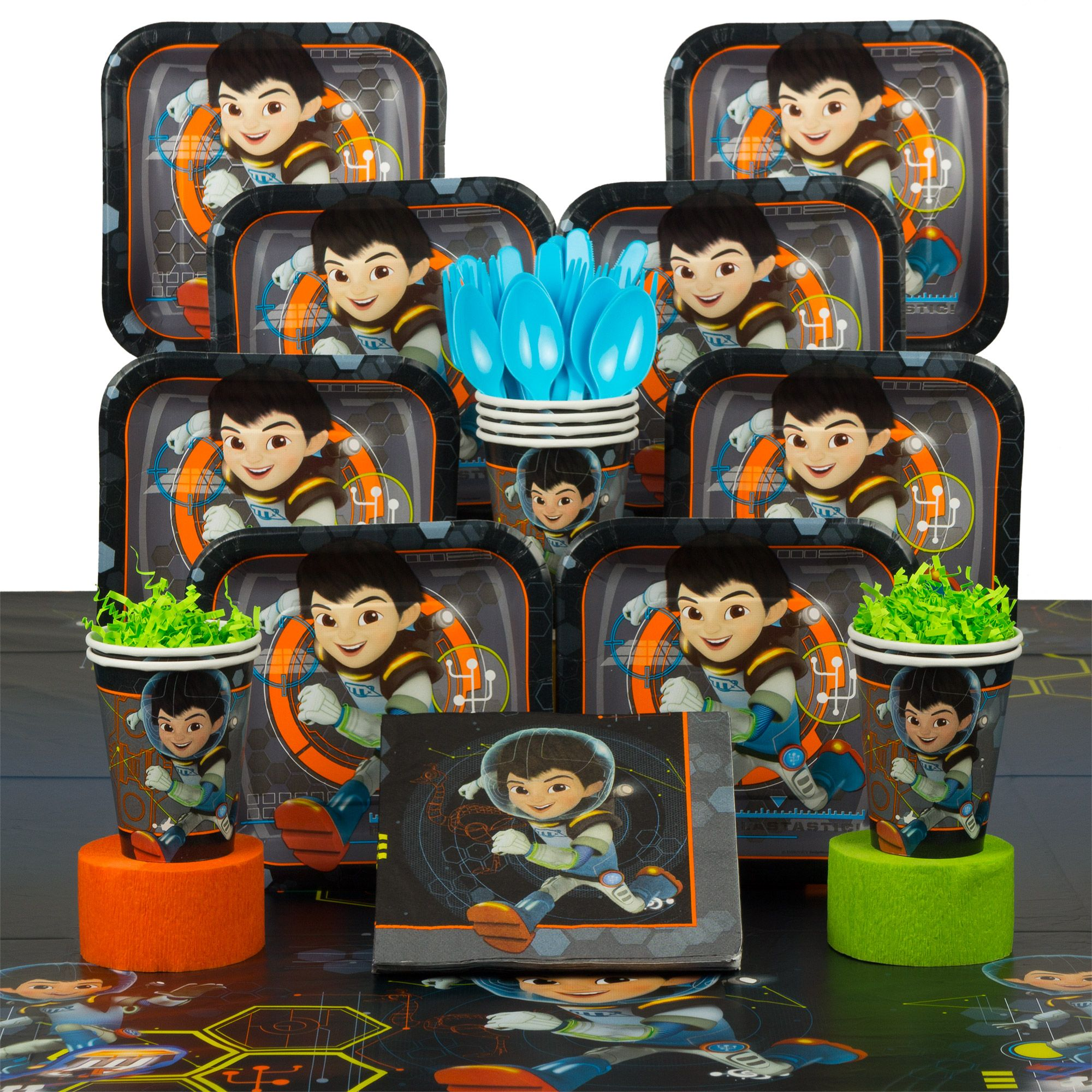 Miles From Tomorrowland Birthday Deluxe Tableware Kit Serves 8 - Party Supplies