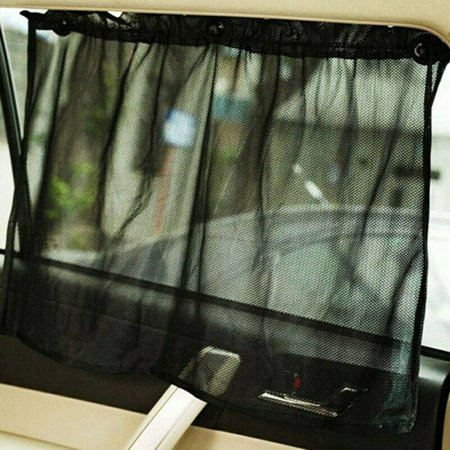 AkoaDa Car Suction Cup Window Curtain Sun Blinds Shade Mesh Sunshade Shield Visor