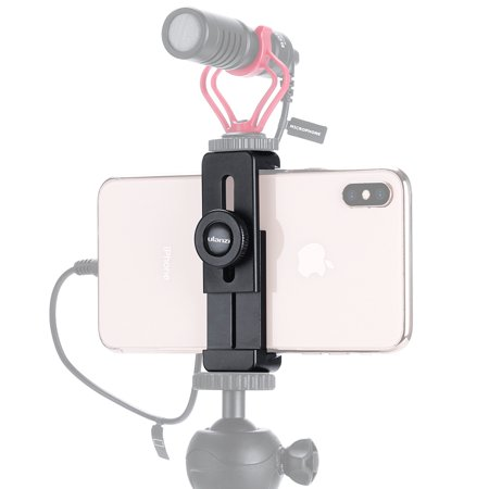 ULANZI ST-02L Smartphone Vlog Phone Mount with Cold Shoe for Microphone Vlogging Phone Stand Holder 1/4 Screw for iPhone Android](Halloween Day Vlog)