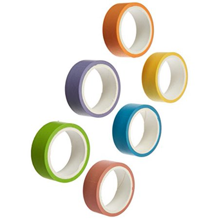 Polaroid Colorful Washi Tape Set with Full Rainbow Of Pastel Colors  6 Rolls Of Crafting Tape For Zink 2x3 Photo Paper Projects (Snap, Pop, Zip, Z2300) - Colorful Tape
