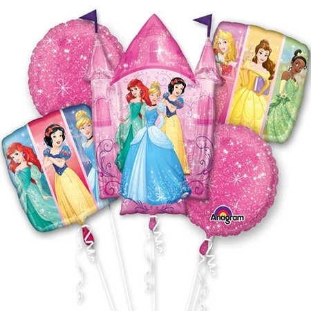 Princess Big Dream Character Authentic Licensed Theme Foil Balloon Bouquet - Nautical Themed Balloons