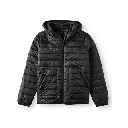 NORTH ZONE Puffer jacket with side stripe (big - Varsity Jackets For Boys