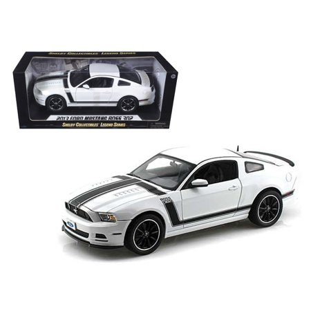 302 Mustang Engine - 2013 Ford Mustang Boss 302 White 1/18 Diecast Car Model by Shelby Collectibles