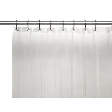 Ben and Jonah Vinyl 10 Gauge Shower Curtain Liner with Metal Grommets and Reinforced Mesh Header