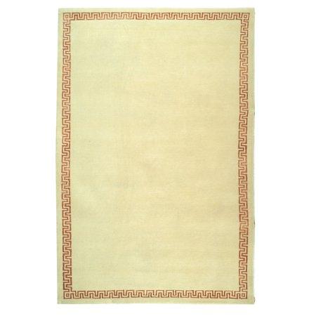 Hanro Woolen Silk - Safavieh  Hand-knotted Suzanne Kasler Cream/ Rose Wool/ Silk Rug - 6' x 9'
