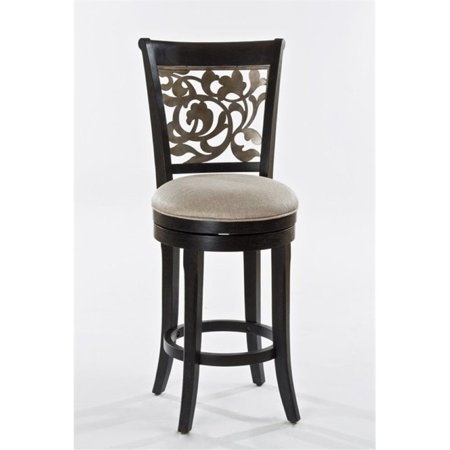 Surprising Bowery Hill Swivel Bar Stool In Black And Distressed Gray Dailytribune Chair Design For Home Dailytribuneorg