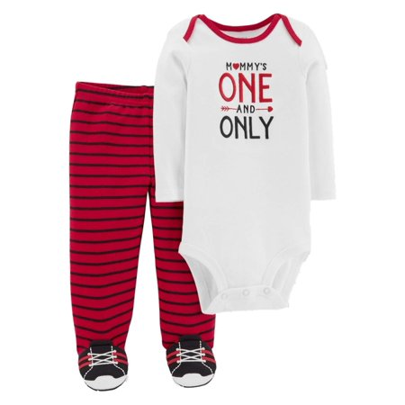 Carters Infant Boys Valentines Outfit Mommys One & Only Bodysuit & Pants](Mommys Boy)