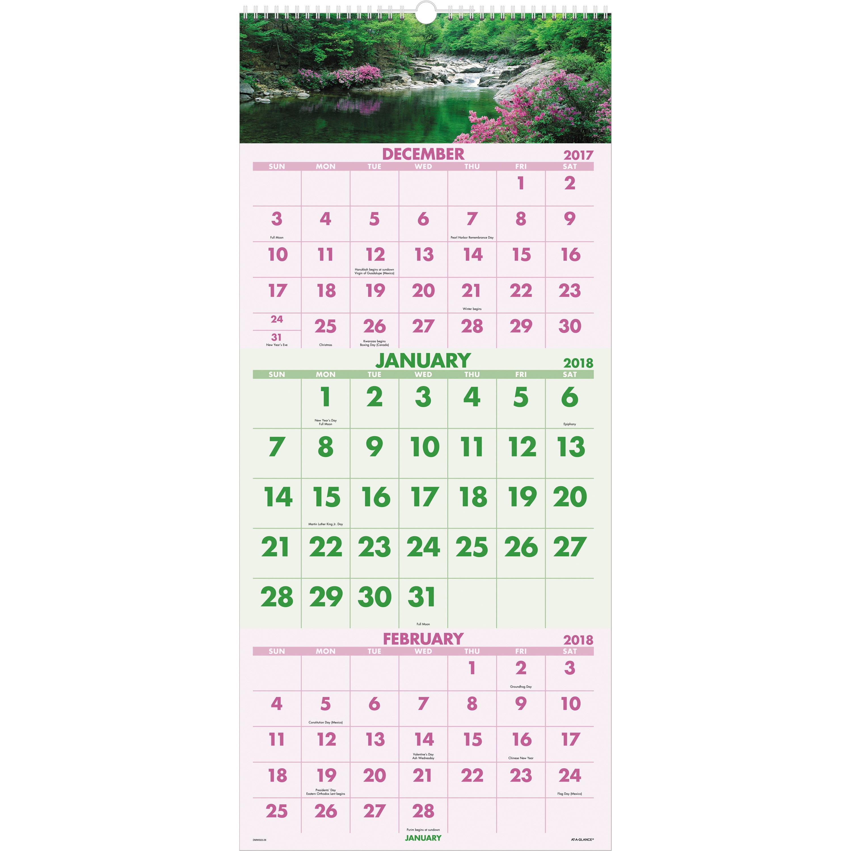 Scenic Design 3-month Wall Calendar