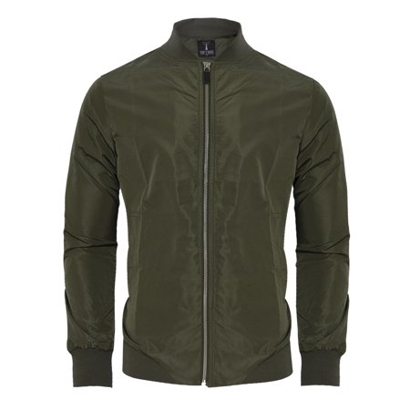 TAM WARE Mens Stylish Front Zip Lightweight Windbreaker Jacket (Mens Jacket Light)