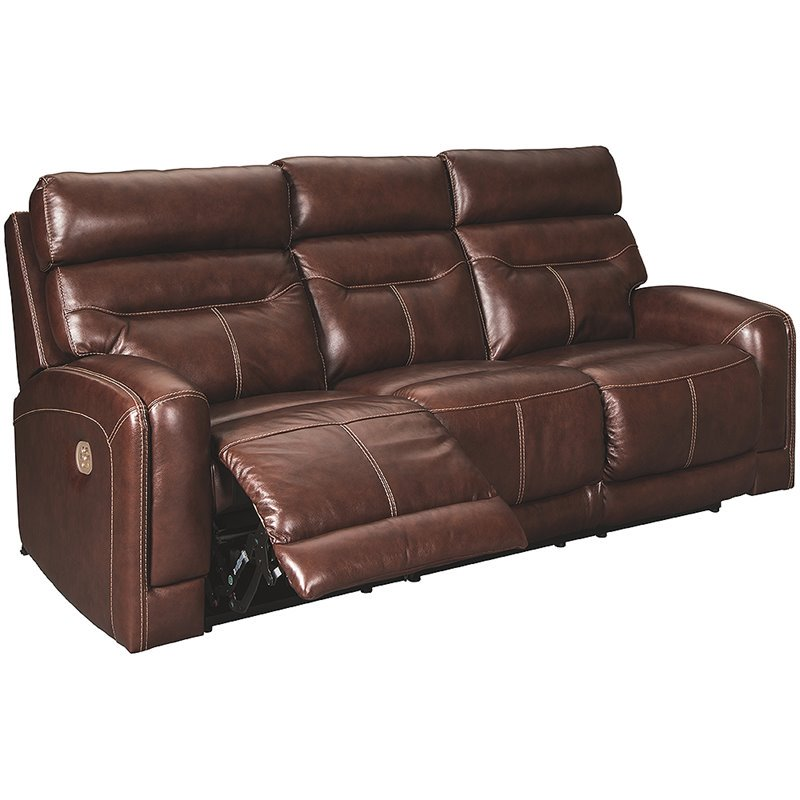 Ashley Furniture Sessom Leather Power, Ashley Furniture Leather Recliners