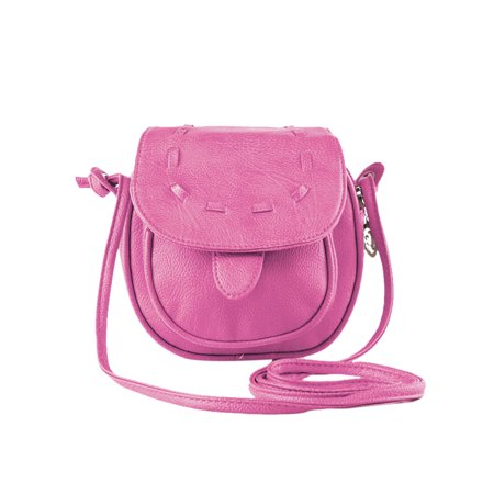 Ladies Simple Mini Crossbody Saddle Bags with Snap Button