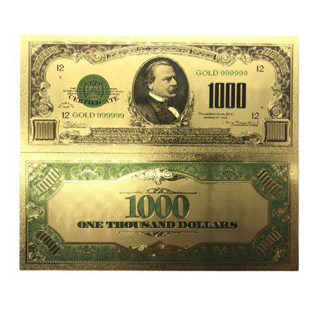 Collectible 1000 Dollar American Bill 24k Gold Plated Fake