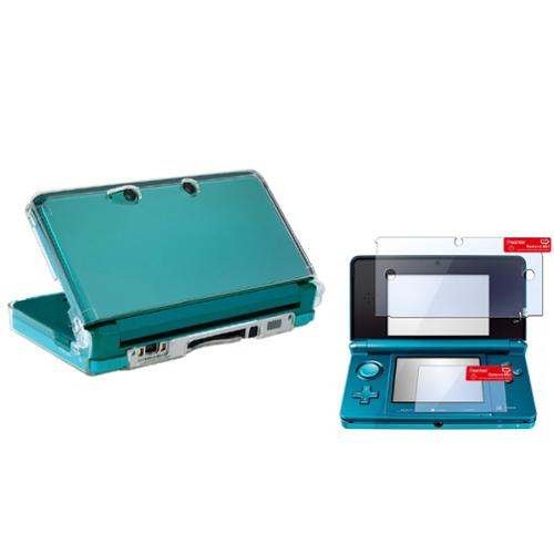 Insten Screen Protector with Clear Crystal Hard Shell Case For Nintendo 3DS