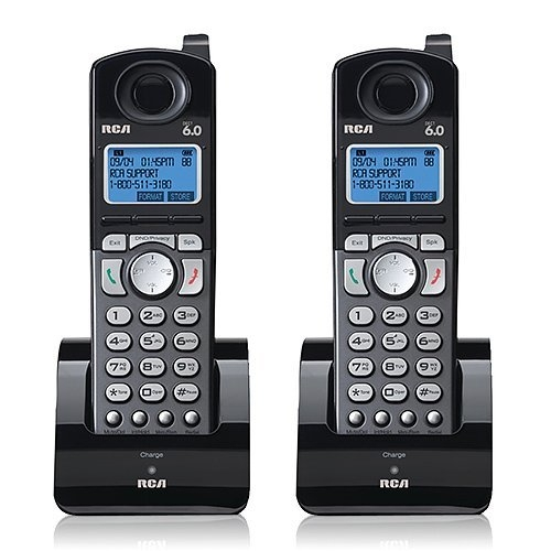 RCA 25055RE1 Dect 6.0 Cordless Expansion Handset 2-Line Landline Telephone - 2 Pack