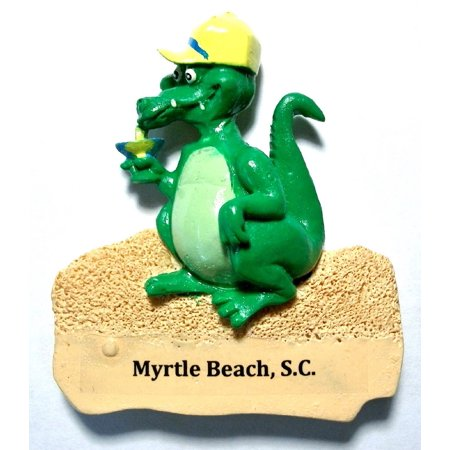 Myrtle Beach SC Alligator with Marguarita Fridge (Zip Code Map For Myrtle Beach Sc)