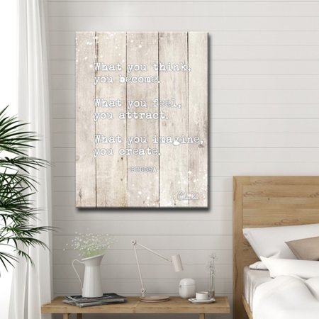 - Ready2HangArt Buddha Quote Inspirational Canvas by Olivia Rose