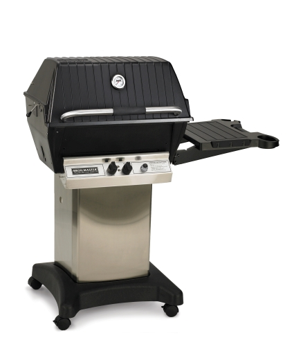 Broilmaster Premium Natural Gas Grill Package with Stainless Steel Cart & Side Shelf by