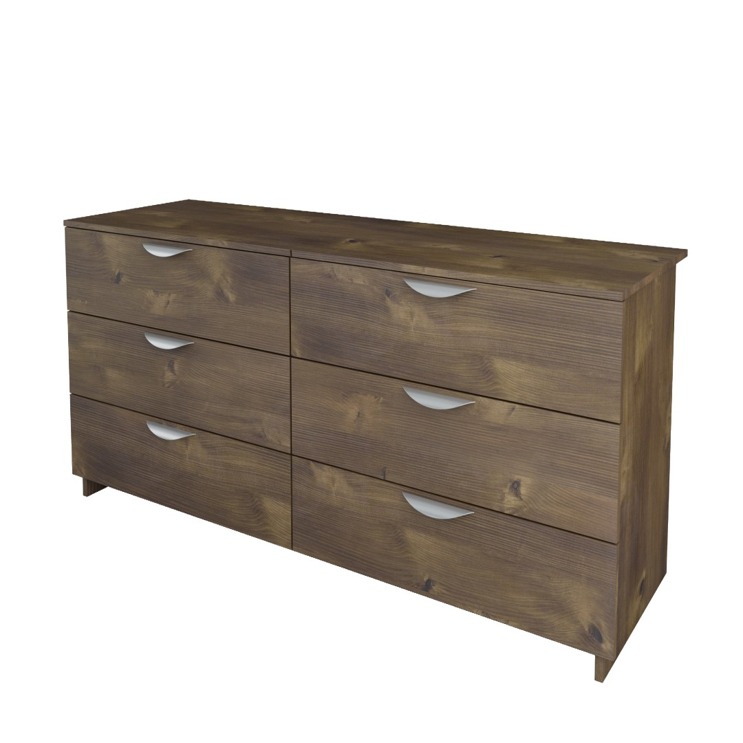Nocce 6-Drawer Double Dresser, Truffle