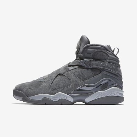 Kids Air Jordan Retro 8 VIII GS Cool Grey Wolf Grey 305368-014