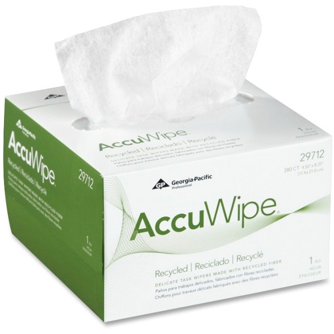 Accuwipe Delicate Task Wipers - For Electronic Equipment - Soft, Non-abrasivebox - 60 / Carton (29712ct)