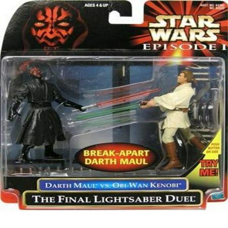 Star Wars: Episode 1 - The Final Lightsaber Duel (Obi-Wan vs. Darth Maul) Action Figure 2-Pack](Darth Maul Light Saber)