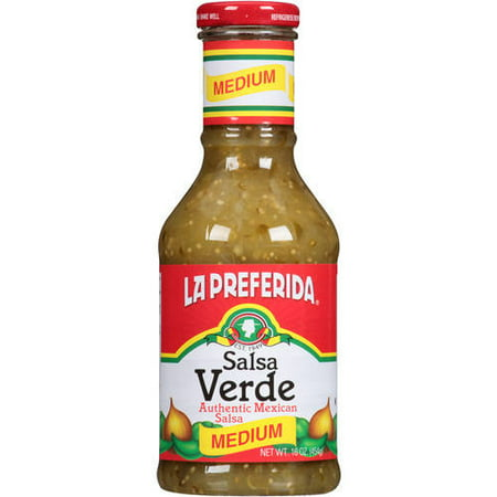 (2 Pack) La Preferida Salsa Verde Medium Authentic Mexican Salsa, 16 oz