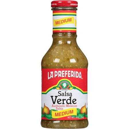 (2 Pack) La Preferida Salsa Verde Medium Authentic Mexican Salsa, 16