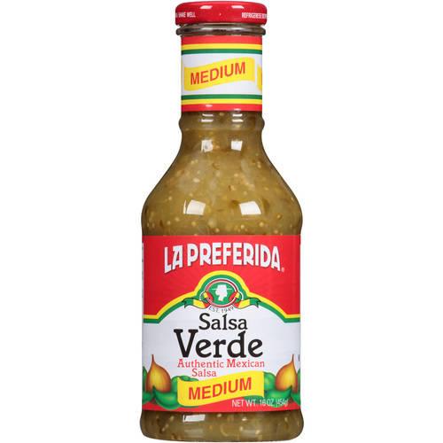 (2 Pack) La Preferida Salsa Verde Medium Authentic Mexican Salsa, 16 oz