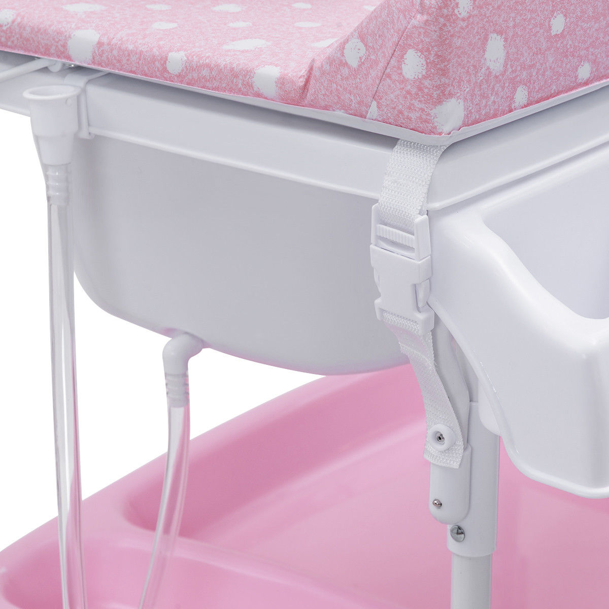 Costway Baby Infant Changing Table Diaper Station Organizer Storage w/ Tube - image 6 de 10