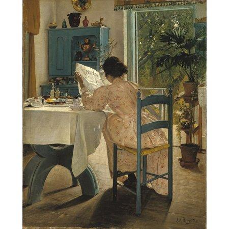 LAMINATED POSTER Breakfast Laurits Andersen Ring 1898 Painting Woman Poster Print 24 x - Breakfast Poster Print