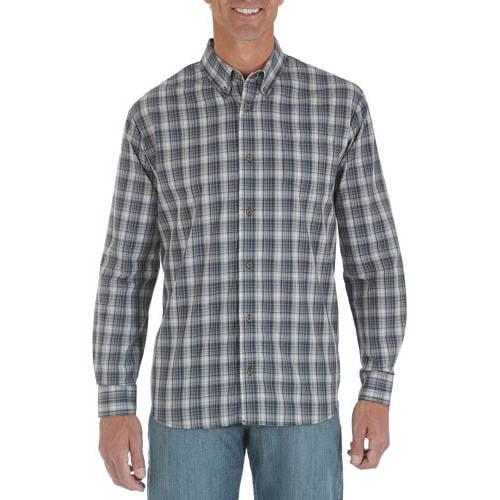 Wrangler Mens' Long Sleeve Wrinkle Resist Shirt