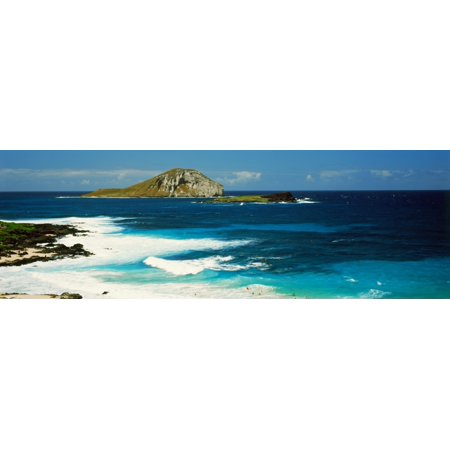 Surf on the beach South East Coast Oahu Hawaii USA Stretched Canvas - Panoramic Images (27 x