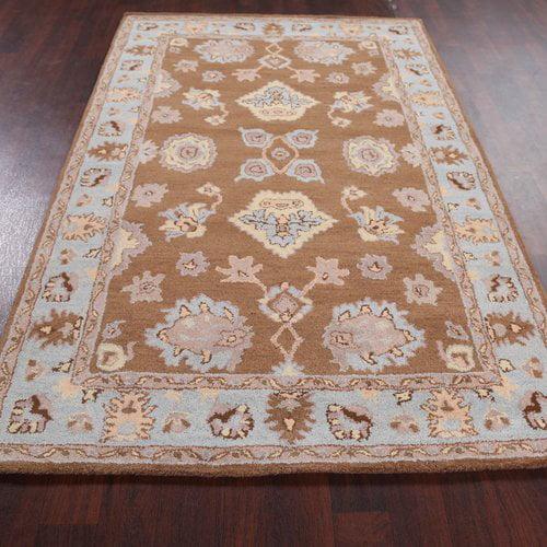 Bloomsbury Market Broadway Village Tabriz Agra Persian Style Oriental Hand-Tufted Wool Beige/Brown Area Rug
