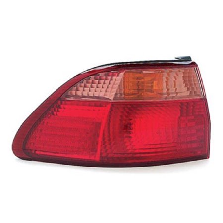 Go-Parts OE Replacement for 1998 - 2000 Honda Accord Rear Tail Light Lamp Assembly / Lens / Cover - Left (Driver) Side Outer - (4 Door; Sedan) 33551-S84-A01 HO2800121 Replacement For Honda