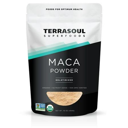 Terrasoul Superfoods Organic Gelatinized Maca Powder, 1.0