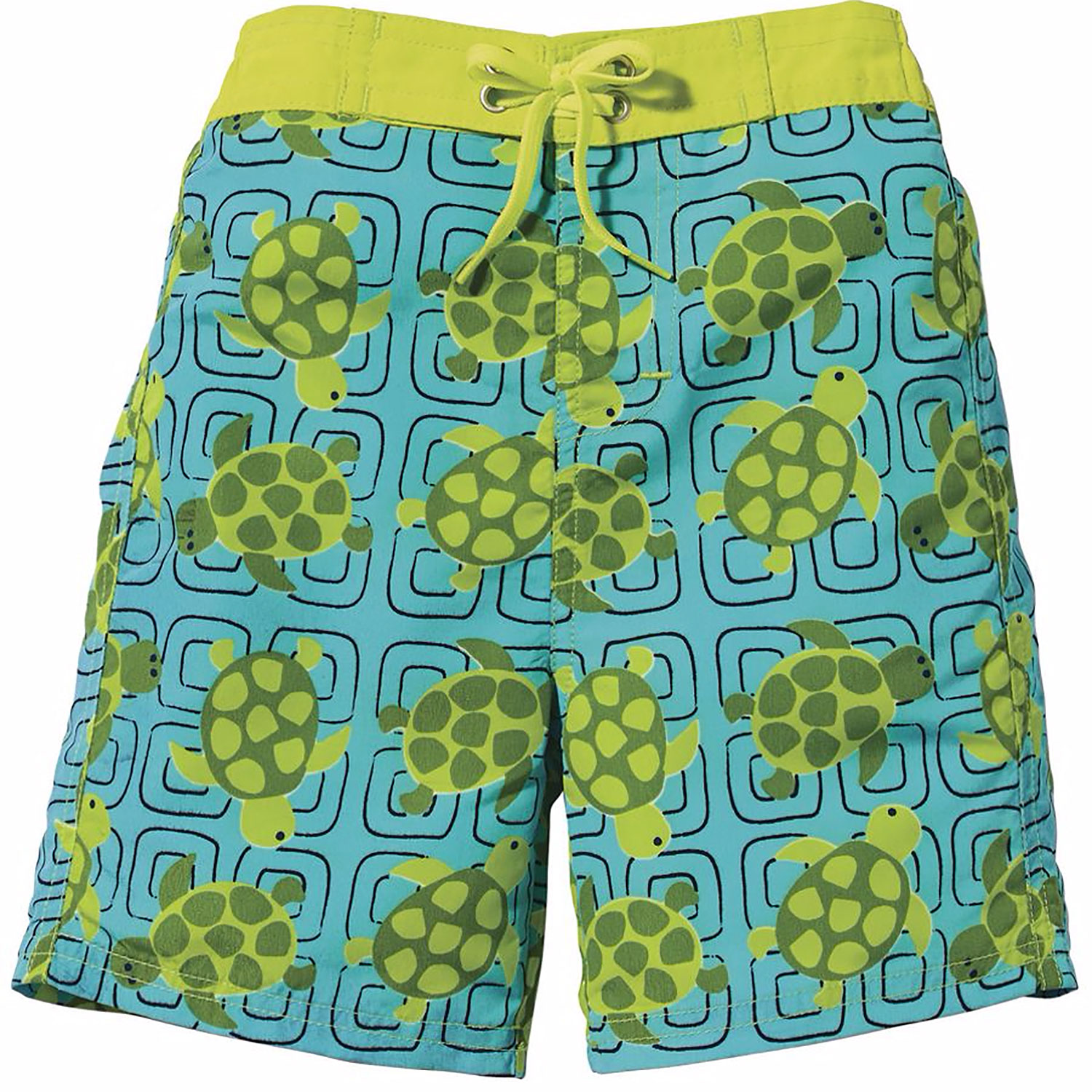 Sun Smarties Swim Boardshort - Green Turtle Swim Diaper  - UPF 50+ Protected-Eco Friendly