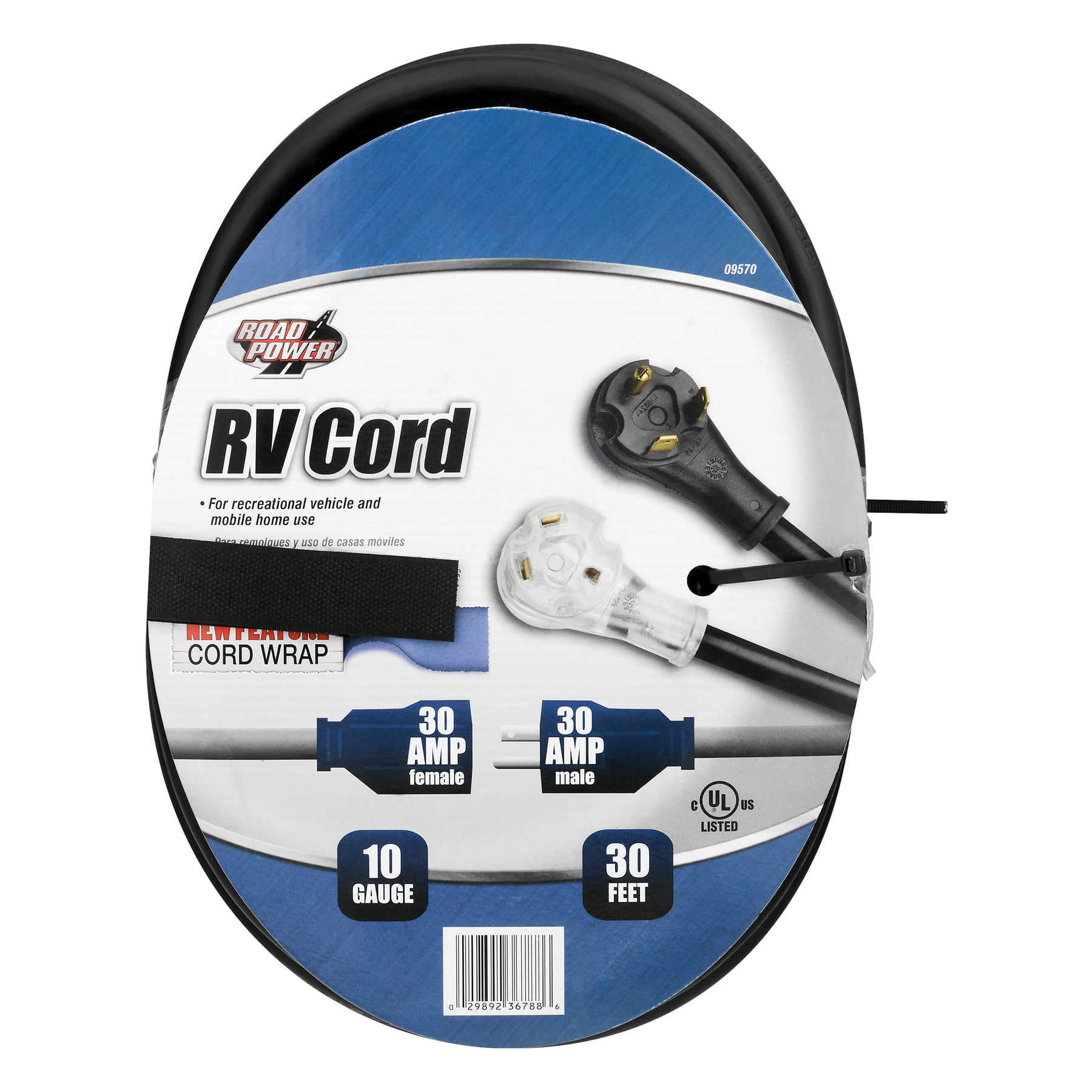 Road Power 10 3 Gauge 30 Amp RV Extension Cord 30 Feet Walmart