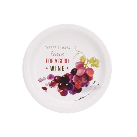 Wine Party Time For Wine Cocktail Plates -