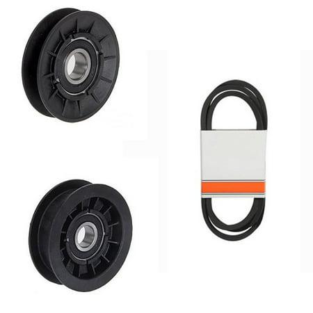 (1) Transmission Drive Belt and Idler Pulleys for John Deere 100 Series Trans Drive Transmission Drive Pulley