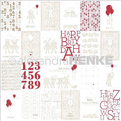 "Alexandra Renke Baby Rocker Design Paper 12""X12""-Stuffed Animals W/Balloons Cards"