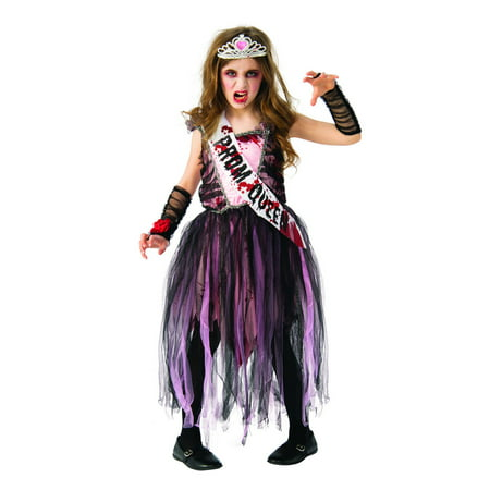 Girls Zombie Prom Queen Halloween Costume - Simple Halloween Makeup Zombie