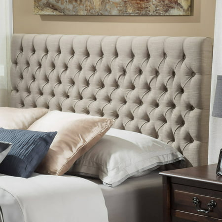 King Tufted Headboard (Noble House Newton Modern Contemporary Tufted Fabric King/Cal King Headboard, Sand)