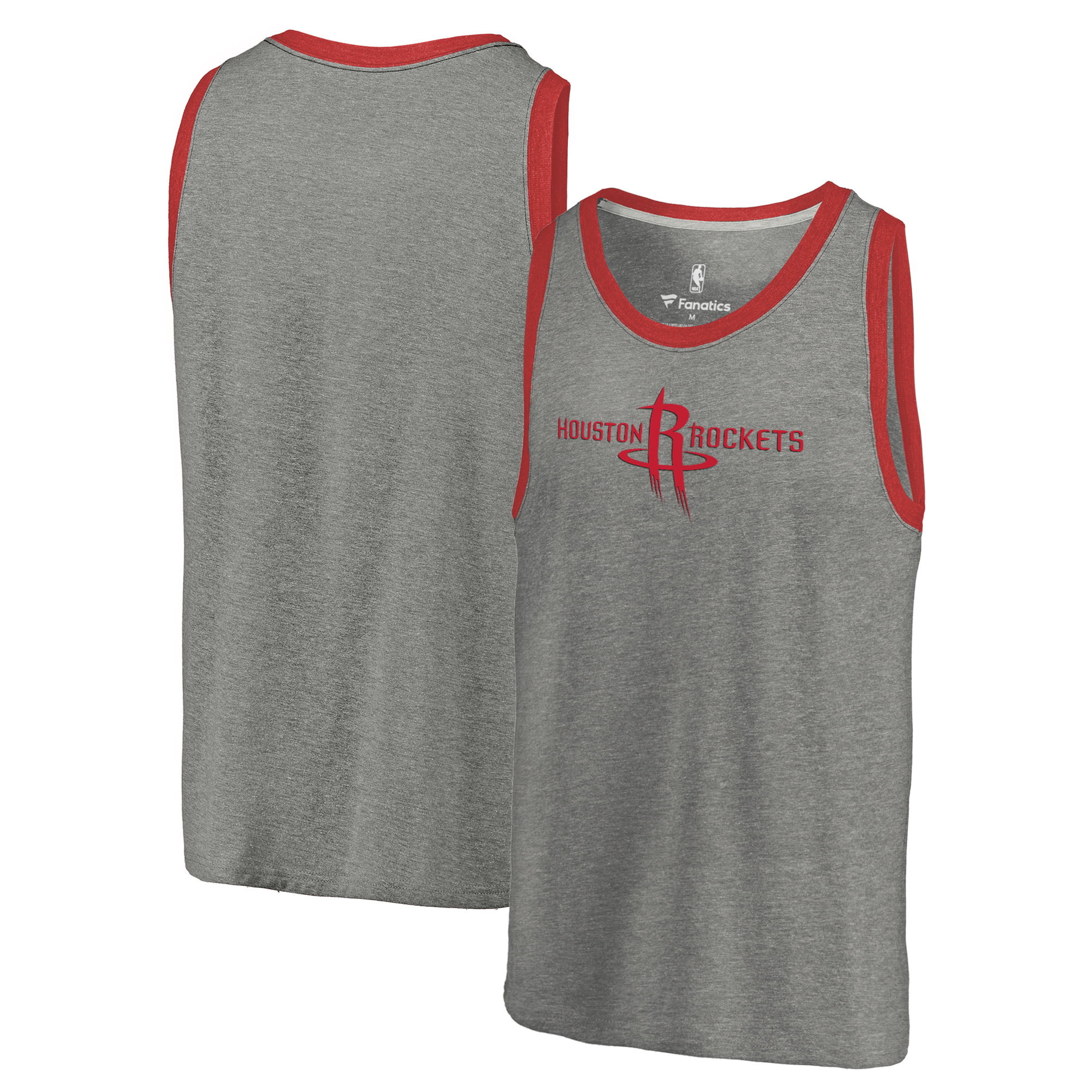 Houston Rockets Team Essential Tri-Blend Tank Top - Heather Gray