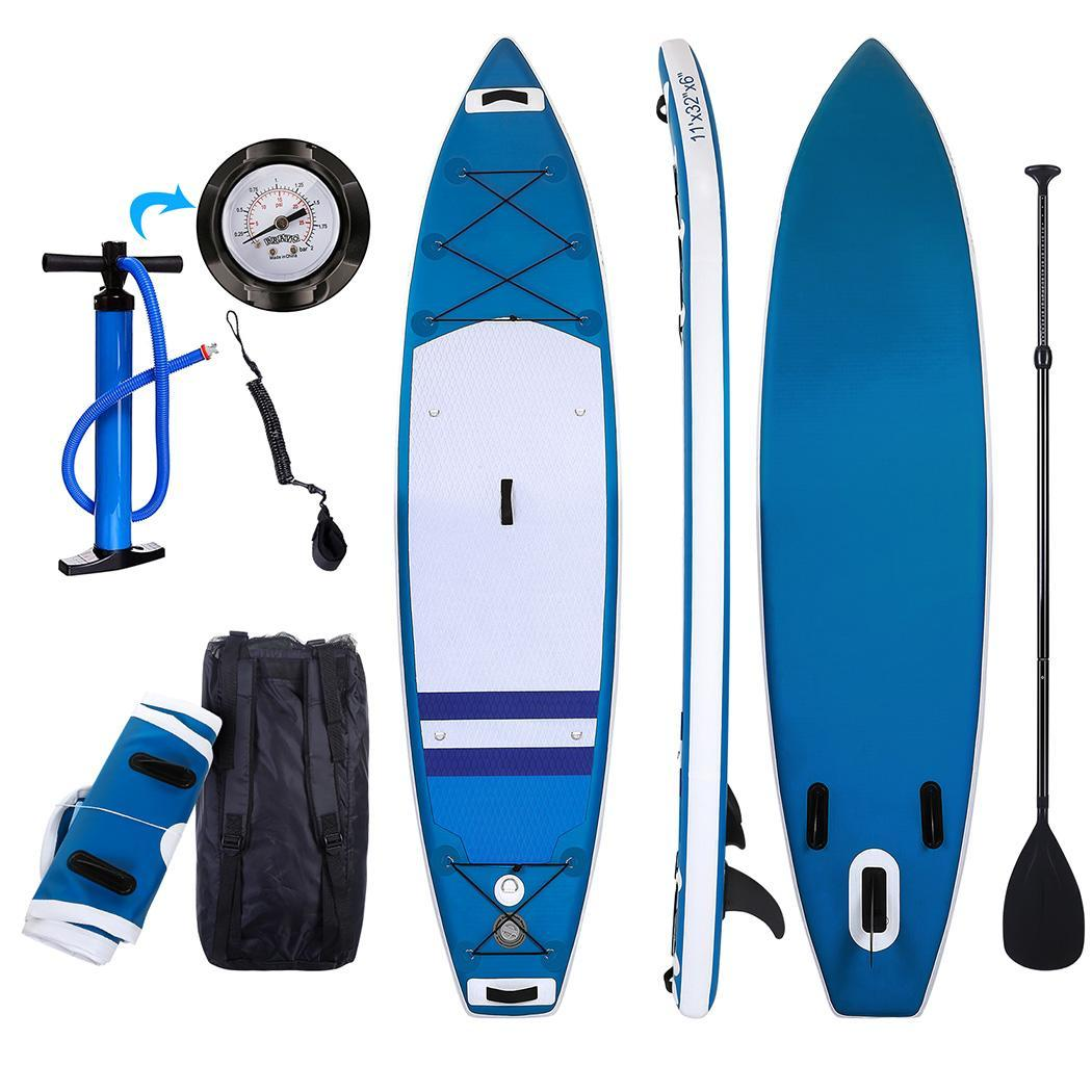 Hascon Blue Stand Up, 10 foot, Inflatable Paddle Board All-purpose Adjustable Paddle Inflatable Double-layer Surf Board... by
