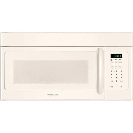 Frigidaire 30  1.6 Cu Ft 1000W Over-the-Range Microwave Oven, Bisque Frigidaire 30  1.6 Cu Ft 1000W Over-the-Range Microwave Oven, Bisque: Ductless installation option included with the 1000W Frigidaire microwave ovenDishwasher-safe vent filters1.6 cu ft capacity with 13-1/2  diameter glass turntable1000 watts of cooking power with 10 power levelsReady-select controls with control lock option1-touch options include baked potato, popcorn and beverageAuto-defrost and auto-reheat optionsMulti-stage cooking option allows you to program power levels and cooking times in advanceAdd 30 seconds optionClock, timer, interior light and cooktop lightBisque 1.6 Cu Ft Microwave Oven Dimensions: 15 L x 29.9 W x 16.4 HModel# FFMV162LQ