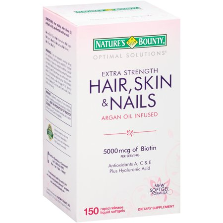 Nature S Bounty Optimal Solutions Hair Skin And Nails  Softgels